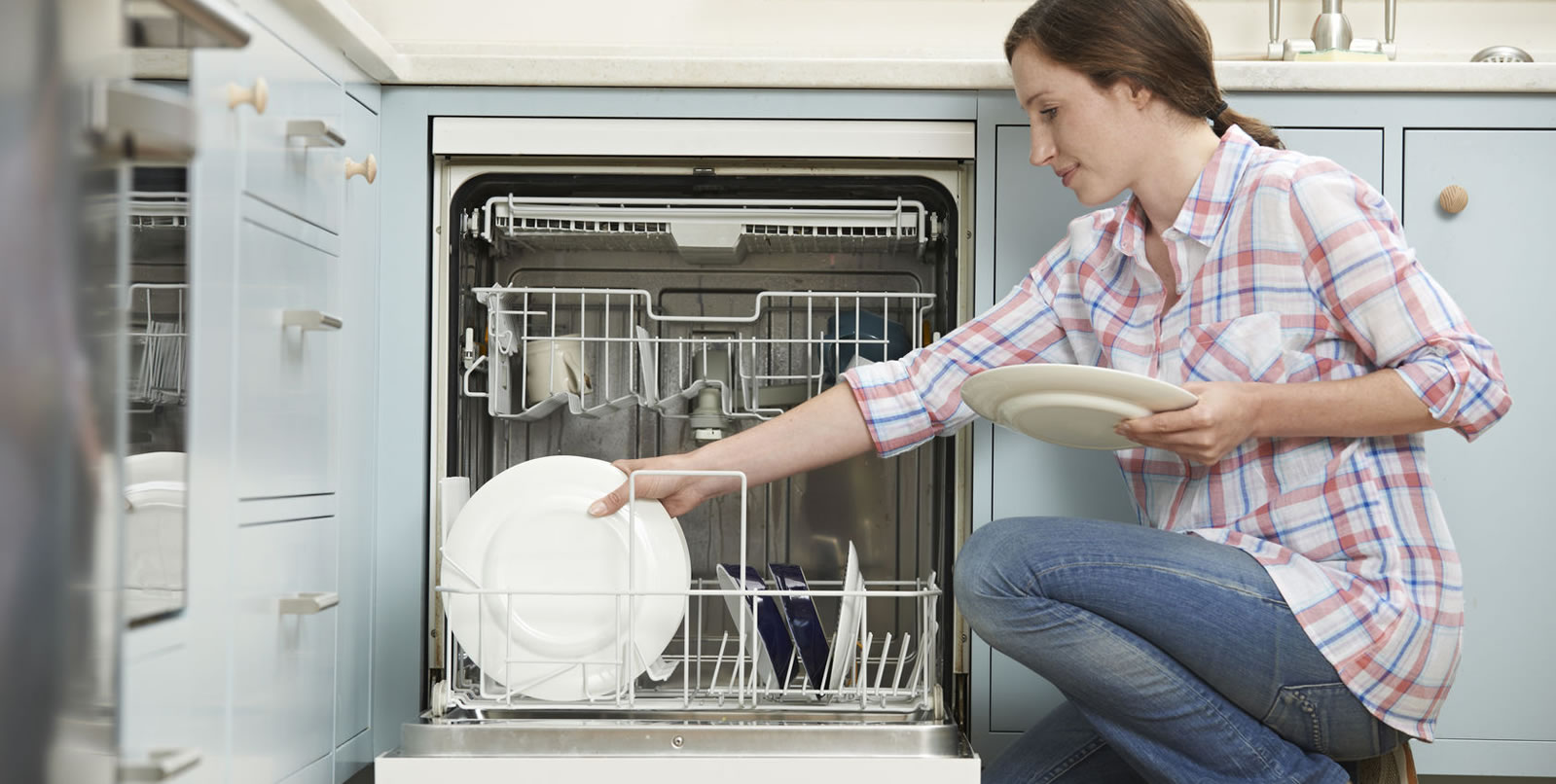 Unloading Dishwasher